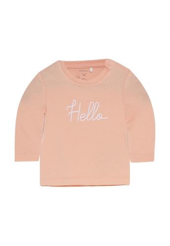 NAME IT pink and orange Natalia Long Sleeves Top 6FB5BKA57A87AEGS_1