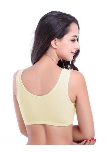 55bc70a682 Buy YSoCool Seamless Firming Sport Sleeping Bra Light Grey Yellow - Set of  2 Pcs Online