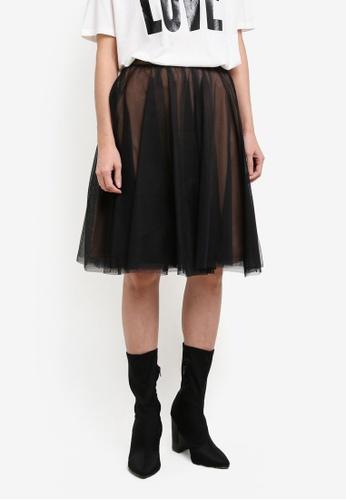 ESPRIT black Light Woven Midi Skirt ES374AA0S2R4MY_1