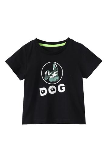 M.Latin black Graphic Printed Short Sleeve T-Shirt D26A6KAEC96555GS_1