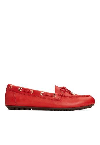 Vionic red Virginia Leather Moccasin B1FABSHC4DAA9FGS_1