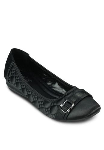 扣環軟襯縫線esprit分店平底鞋, 女鞋, 鞋