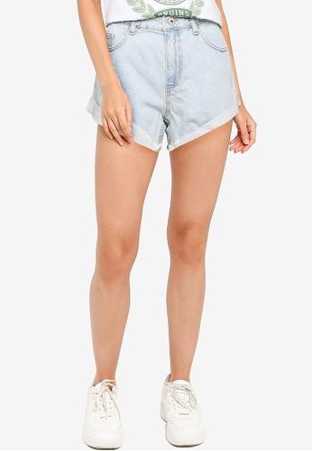 Cotton On blue Mid Relaxed Denim Shorts E56CDAAA64030DGS_1