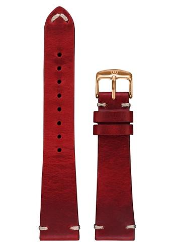 Undone red Undone Red Calf Leather Strap 20mm (Rose Gold Buckle) UN712AC2VEKLHK_1