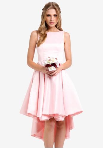 ZALORA pink Bridesmaids Structured High Low Dress 4D515ZZF75D18AGS_1