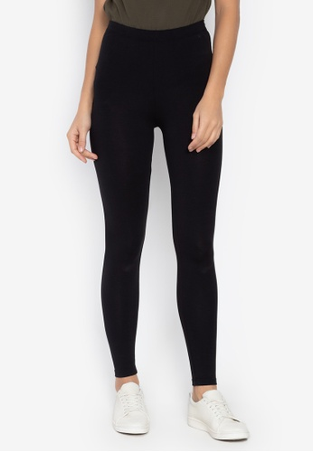 MARKS & SPENCER black Cotton Rich Leggings CB0AFAA09811A8GS_1