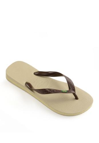 Havaianas brown Brasil Flip Flops B7B0BSH9DDC4A3GS_1