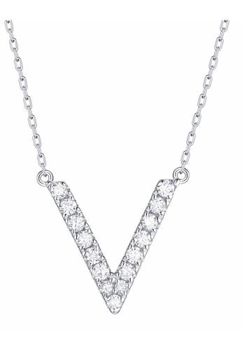 Smiling Rocks 白色 10K白金0.19克拉實驗室培植鑽石訂製系列項鍊 C8996AC3252BE4GS_1