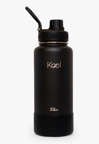 Kool PH black 32 oz Insulated Stainless Steel Water Bottle With Silicone Boot 5CABAACD453A0AGS_1