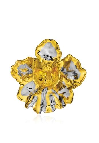 RISIS multi RISIS 24K Gold and Palladium Plated Natural Vanda Miss Joaquim Orchid Brooch/Pendant 5FCDCAC4EFD289GS_1