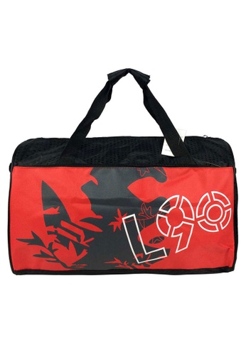 Poly-Pac red Poly-Pac XT2012 16inch Artistic Print Style Hand Carry Travel Duffel Bag-Red 39B80ACEBAEF78GS_1