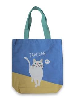 Walking Cat A4 Tote Bag