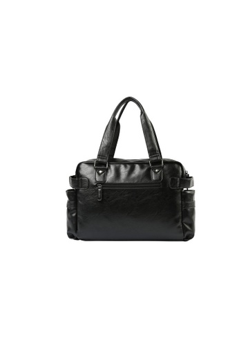 Lara black Men's Zipper Shoulder Bag - Black 81AA7AC7B6B8D7GS_1