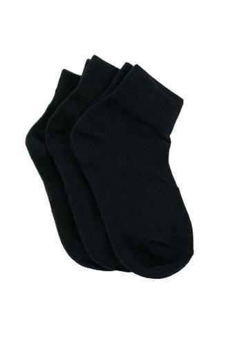 Swan black Swan 3IN1 Ankle Black Socks Unisex 7ED06KA6395B99GS_1