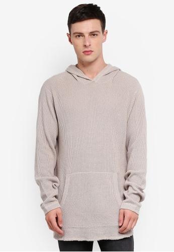 Cotton On 銀色 Hooded Waffle Knitwear AACBFAAE48DAFDGS_1