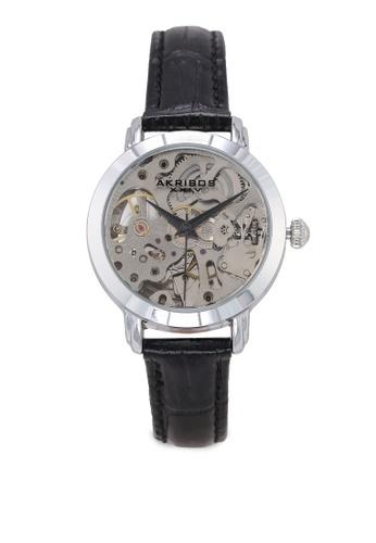 Akribos XXIV black Automatic Skeletal Watch D3B32ACB671CBEGS_1