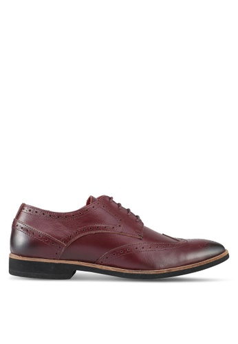 Acuto red Leather Formal Shoes AC283SH0SL6TMY_1