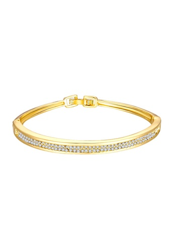 Treasure by B & D gold Treasure by B&D Z001-A Diva Simple Czech Drilling Thin Bangle TR022AC10QHPPH_1