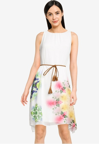 Desigual white Dress with side Slits 42863AA7C6D02FGS_1