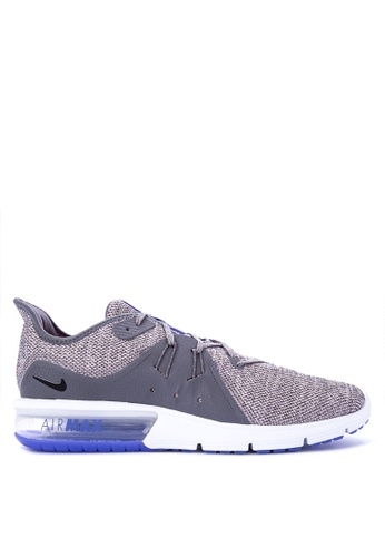 Nike black and grey Men's Nike Air Max Sequent 3 Running Shoes NI126SH0STTTMY_1