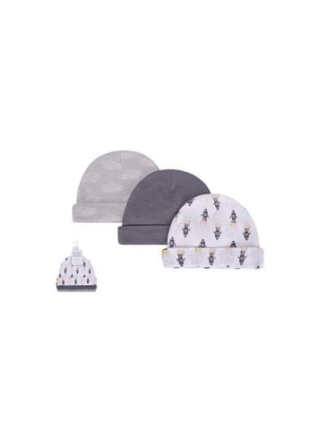 Little Kooma grey Baby Hats 3 Piece Pack 0-6 months 52312CH - 0805 6F6C2KCA6F2045GS_1
