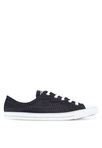 Converse black Chuck Taylor All Star Dainty Sneakers Ox CO302SH65BKCMY_1