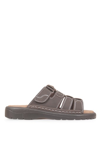 JAVA SEVEN brown JAVA SEVEN Shoes Stanley 2 Black Men's Sandals & Flip Flops Leather JA154SH46ILHID_1