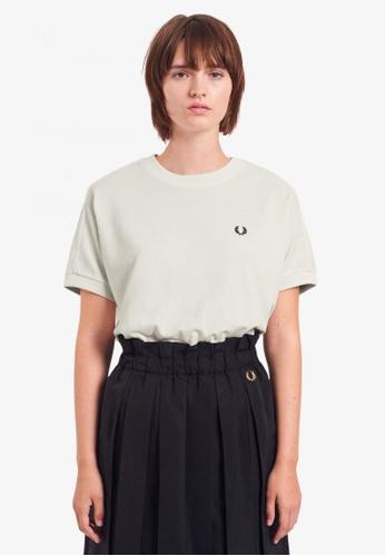 Fred Perry white G1137 - Boxy Pique T-Shirt - (Snow White) E829BAACFFE280GS_1