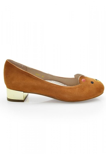 Elisa Litz brown Beary Low-Heels (Brown) EL365SH04ZHZSG_1