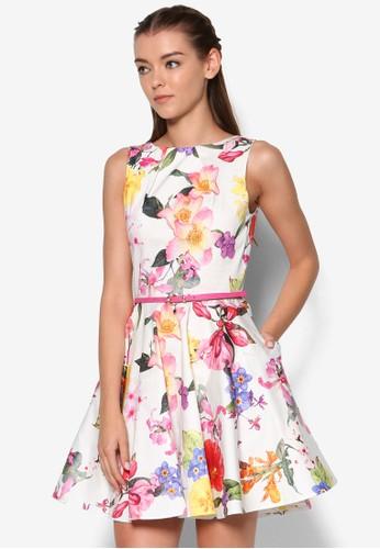 印花腰帶洋裝, 服飾esprit香港門市, 洋裝