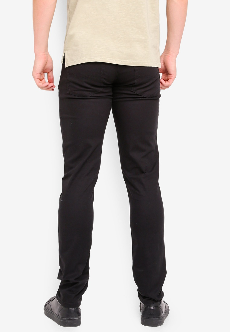 Fit Stretchable Chinos Fidelio 518 Black Slim USwxEP
