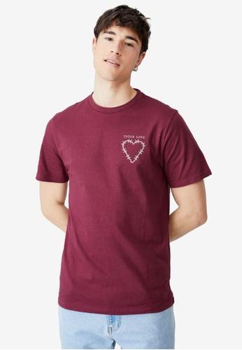 Cotton On red Tbar Art T-Shirt 5D2B2AAE8F95BDGS_1