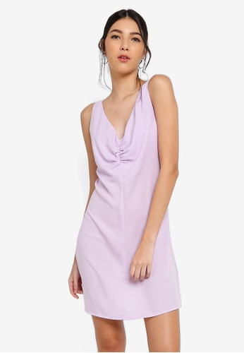 ZALORA purple Twist Front Dress 9F449AAD63F828GS_1