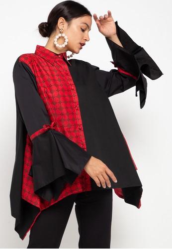 Draisal Batik black and red Red Ayumi Blouse Draisal Batik 73C1FAA9262FFBGS_1