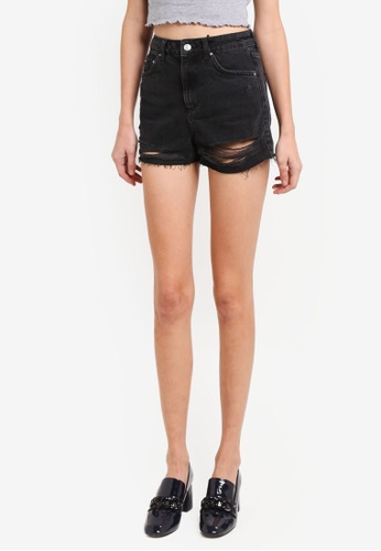 87ec33cc9c Shop TOPSHOP Moto Ripped Mom Shorts Online on ZALORA Philippines