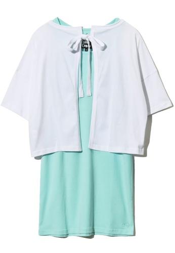 """Mini cream white """"Hawaii"""" printed cloak and dress 4094EAA0139787GS_1"""