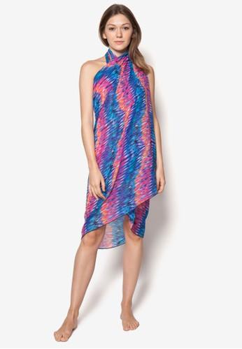 Aurora 印花沙esprit專櫃灘巾, 服飾, 泳裝及沙灘造型
