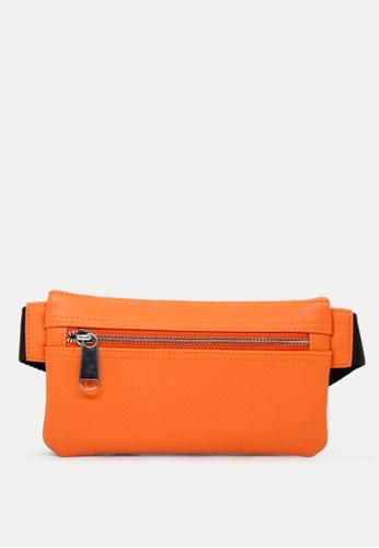 London Rag orange Men's Solid Waist Bag C5DA8AC780EB5DGS_1