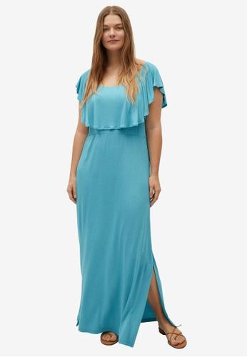 Violeta by MANGO blue Plus Size Overlay Dress 14912AAB4546C5GS_1