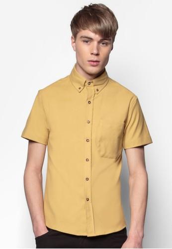 Nomad 短袖襯衫, 服飾, 素esprit香港分店色襯衫