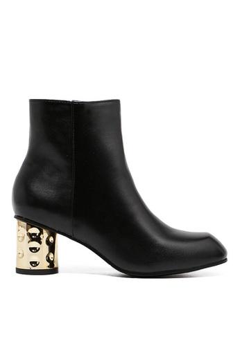 Twenty Eight Shoes black Golden Heel Ankle Boots 352-2 TW446SH60BQHHK_1