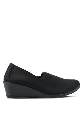 Bata 黑色 舒適楔型鞋 68444SH8EFCC35GS_1