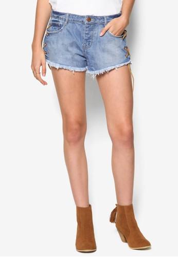 Saturday esprit taiwan刷破牛仔短褲, 服飾, 短褲