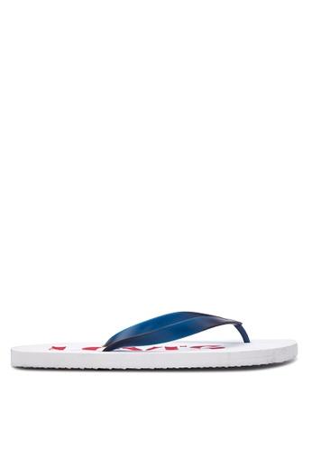 Levi's white Dixon Flip-Flops LE892SH30VYRPH_1
