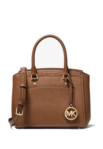 Michael Kors brown Michael Kors Park Park Medium Leather Messenger - Luggage D6C06AC706D22EGS_1