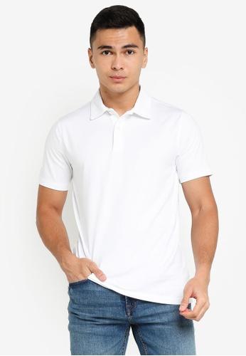 ABERCROMBIE & FITCH white Webex Knit Polo Shirt 6458EAA4E8DC09GS_1