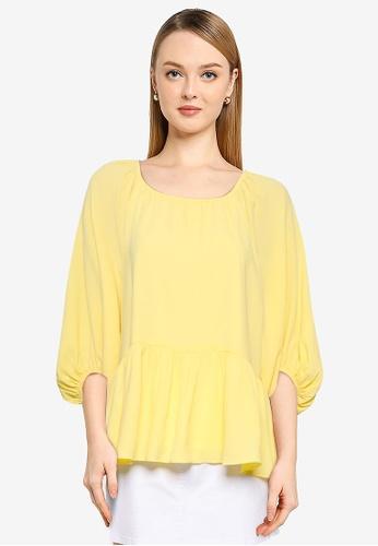 The Duo yellow Chiffon Tiered Top 1A1B0AAA0DEE24GS_1
