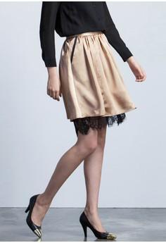 Metallic Shine Mini Skirt