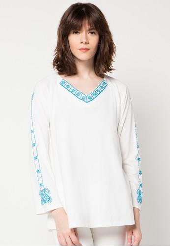 LOIS JEANS white Long Sleeve T-Shirt LO391AA00HXBID_1