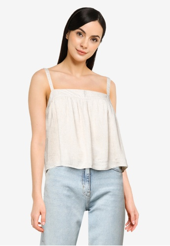 ABERCROMBIE & FITCH beige Tie Cami Top 0D1FEAA0BBA27BGS_1
